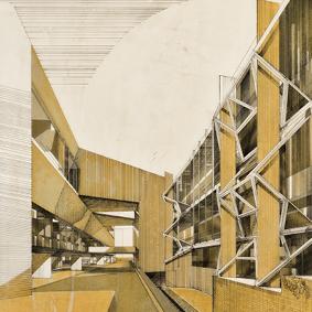 Progetto per il nuovo Museo nella zona degli Eremitani  <br />a Padova